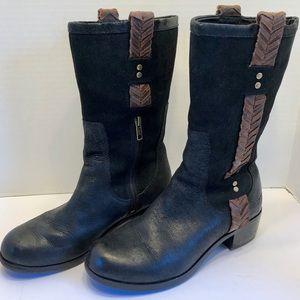 "UGG ""Jaspan"" Leather Riding Boots Size 7.5"